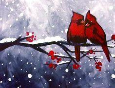 Christmas Birds on Pinterest | Vintage Christmas Cards, Vintage Chris ...