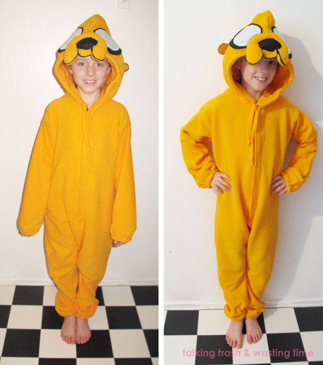 Talking Trash & Wasting Time: jake the dog Onesie Tutorial... kids, teens or adult...