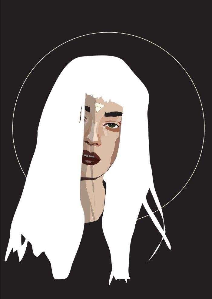 Woman as Element - Earth Art Print