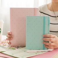 Чистый светлый цвет классический мой DIY дневник A5 A6 спираль журнал линии + квадрат + dots + сделать листов 80 P бесплатная доставка 2017 подарок
