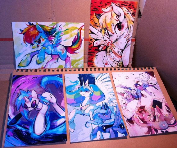 A6 Print Set  My Little Ponies by xmiox on Etsy, $7.00  Christmas for Brielle
