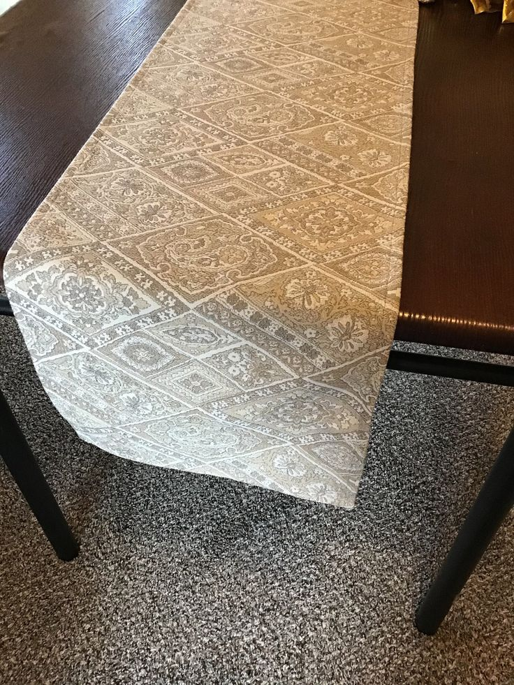 Elegant table runner, Neutral table runner, Cream taupe