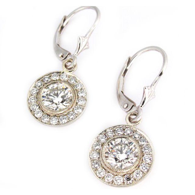 Diamond Drop Earrings    'Mandala' Diamond Drop Earrings      $11,000