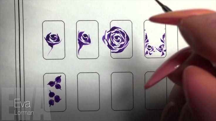 Роспись ногтей! Цветы! Урок 11! Все Видео уроки!