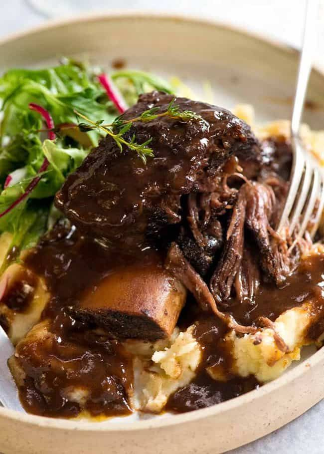 Braised Beef Short Ribs In Red Wine Sauce Recipe Recipetin Eats Slow Cooked Meat Braised Beef