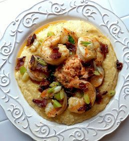 Southern Shrimp & Grits with Bacon and Tomato Butter. I've read quite a few of these recipes and I have to say, I love this one.  Tomato butter sounds divine, and the additional homemade Creole seasoning is a plus.  This one is a keeper.