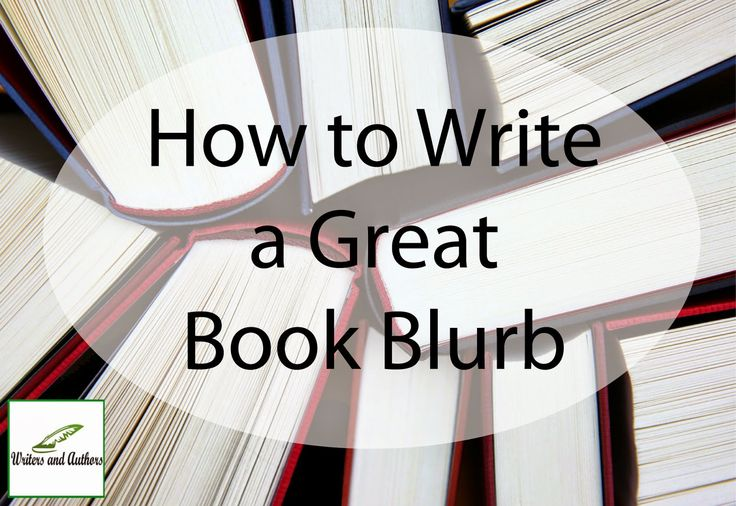 how to write a blurb for your book