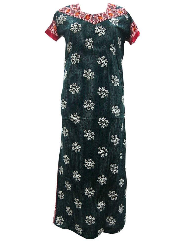 Dark Green Long Maxi Summer Fashion Resort Wear Nighty