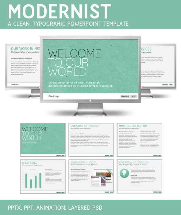 Modernist PowerPoint Template - #PowerPoint Templates #Presentation Templates Download here: https://graphicriver.net/item/modernist-powerpoint-template/126101?ref=alena994