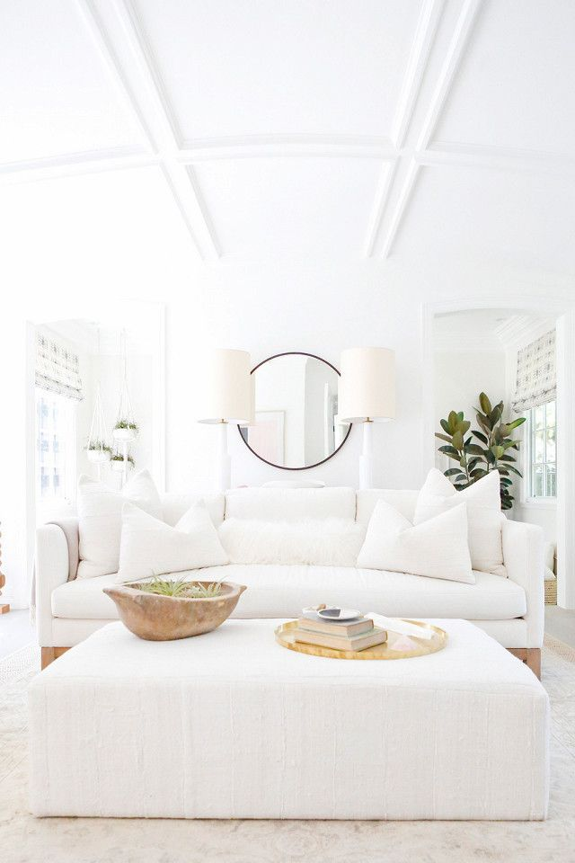 All White Living Room Inspiration | Image Via MyDomaine