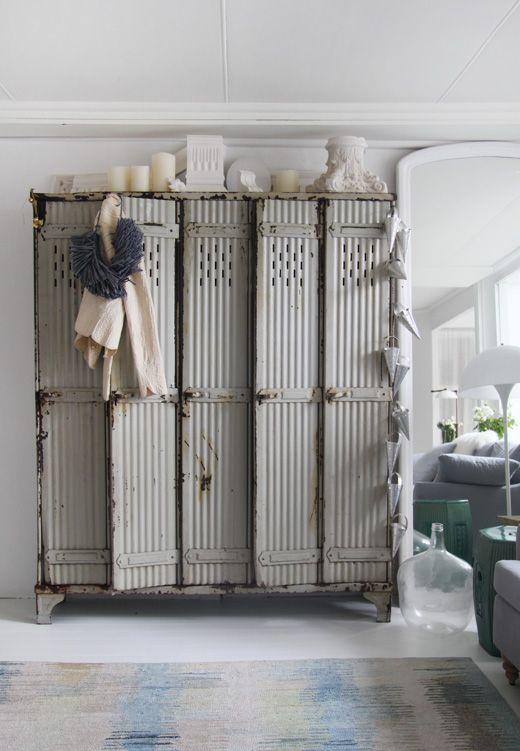 LOVE the lockers! by megan-locker: Idea, Metals Lockers, House, Vintage Interiors, Design File, Furniture, Megan Morton, Vintage Lockers, Storage