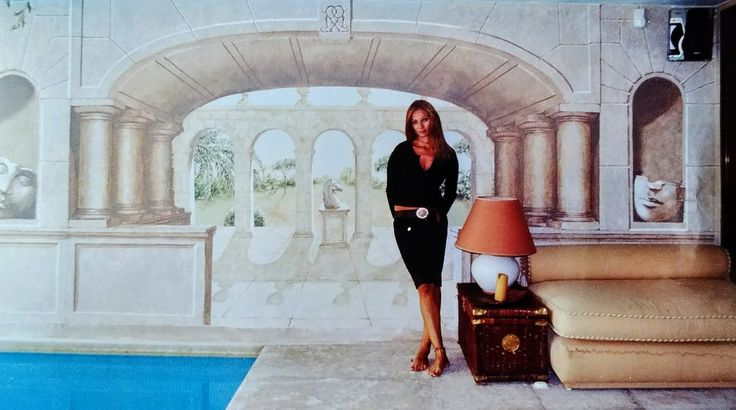Trampantojo, una piscina decorada con este antiguo arte ...