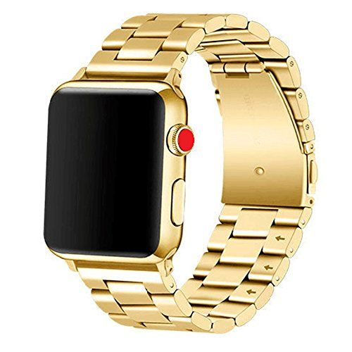 Apple Watch Band 38mm Premium Stainless Steel Metal Apple Watch Bands iWatch Bands Apple Watch Band Replacement for Apple Watch Series 1 Series 2 Series 3 Libra & Gemini (Gold) #Apple #Watch #Band #Premium #Stainless #Steel #Metal #Bands #iWatch #Replacement #Series #Libra #Gemini #(Gold)