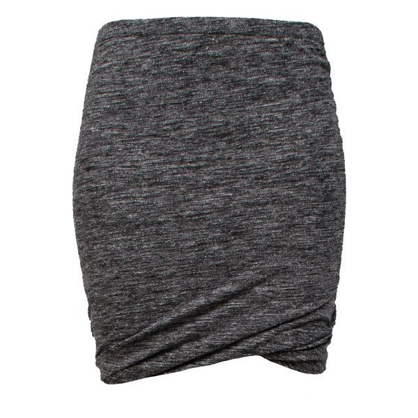 ETOILE ISABEL MARANT Wonki Skirt Anthracite (2,390 MXN) ❤ liked on Polyvore featuring skirts, mini skirts, short skirts, black mini skirt, black skirt, short black skirt and fitted skirts