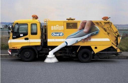 Oral-B ambient advertising