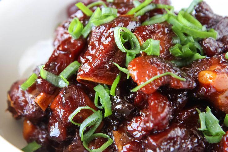 vietnamese caramelized pork spareribs suon ram man