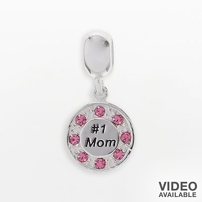 Individuality Beads Sterling Silver And Crystal No 1 Mom Charm