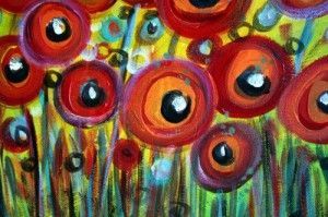 van gogh wine class | Van Gogh and Merlot Painting Class | Nectar Tasting Room and Wine Blog paint and sip / poppies art painting
