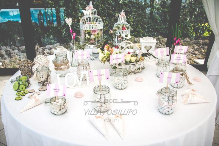Matrimonio primaverile a Napoli. Confettata shabby chic