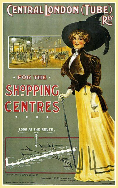 London Underground Railway 1902  Poster Print by BloominLuvly, $9.95