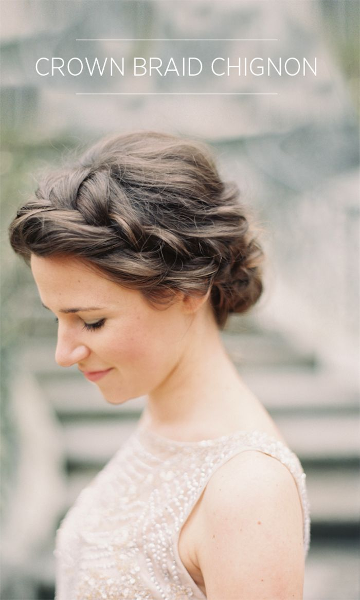 CROWN BRAID CHIGNON TUTORIAL ~ for once wed