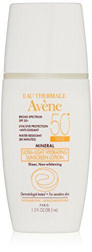 Avene+Mineral+Ultra-Light+Hydrating+Sunscreen+SPF+50+Plus+Face+Lotion,+1.3+Fluid+Ounce