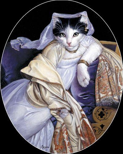 "Melinda Copper  ~  ""Rosebud""  (original painting, Madame Rivere by Ingres)"
