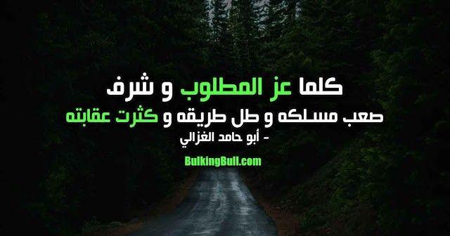 كلما عز المطلوب وشرف صعب مسلكه وطل طريقه وكثر عاقبته