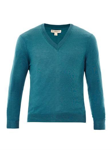 Cawour cashmere fine-knit sweater   #BurberryLondon