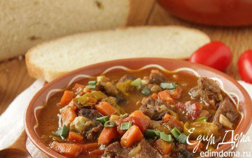 Говядина, тушеная с овощами в томатном соусе | Кулинарные рецепты от «Едим дома!»