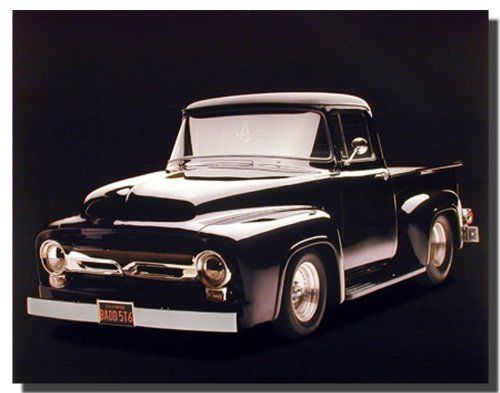 Absolutely beautiful! This poster will add a humor and charming atmosphere to any space. This poster captures the image of classic black ford pickup vintage truck is sure to make this poster eye a centre of attraction. It would be a great addition for your home especially for someone who is a truck lover. Hurry up! Buy this poster for its superb quality and high degree of color accuracy.