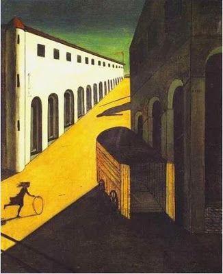Resultado de imagen para 1914 Giorgio de Chirico Misterio y Melancolía de una Calle . Pintura Metafísica
