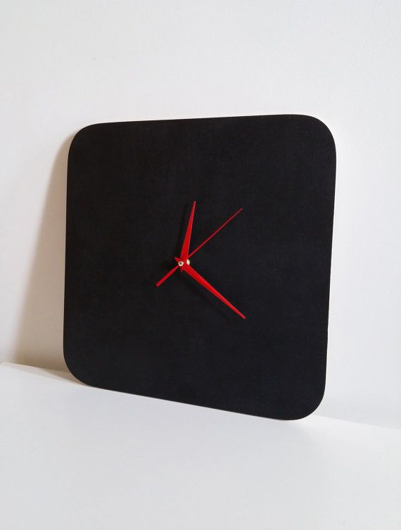 chalkboard wall clock blackboard clock modern wall clock minimalist design black clock for writing with chalk