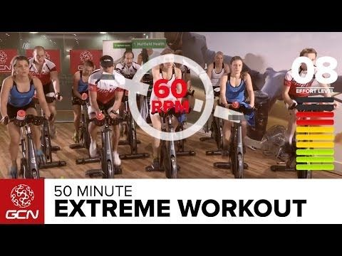Extreme Fat Burning Workout - 50 Minute Indoor Cycling Class with pedal stroke drills