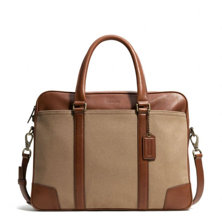 The Bleecker Slim Brief In Archival Twill from Coach