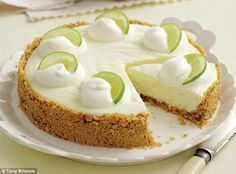 Lemon and lime cheesecake http://www.dailymail.co.uk/home/you/article-2335807/Mary-Berry-Special-Part-Two-Lemon-lime-cheesecake.html