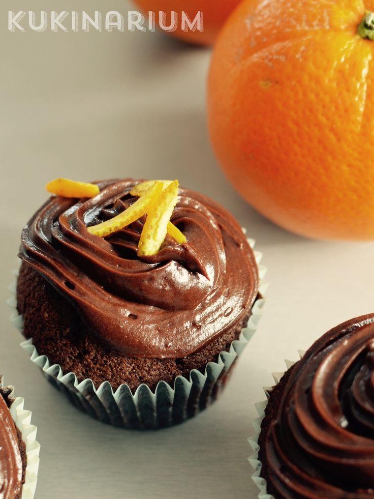 Kukinarium: Idealny duet - babeczki czekoladowe z pomarańczową nutą
