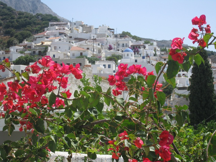Hillside towns in the centre of Naxos, Greece