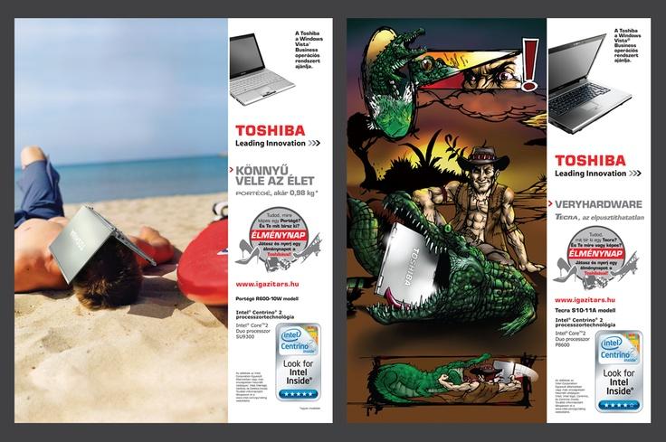Toshiba notebook promo print