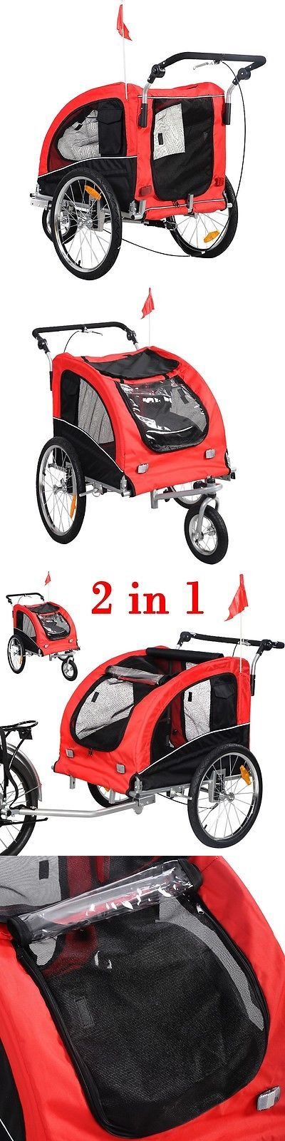 Strollers 116380: Red Pet Bike Dog Trailer Bicycle Trailer Stroller Jogging W/ Suspension BUY IT NOW ONLY: $144.94