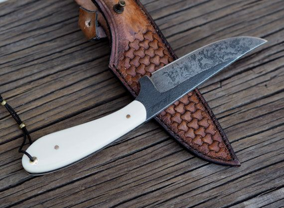 Custom fixed blade knife - Persian style, hunting knfe, outdoor knife, handmade knife