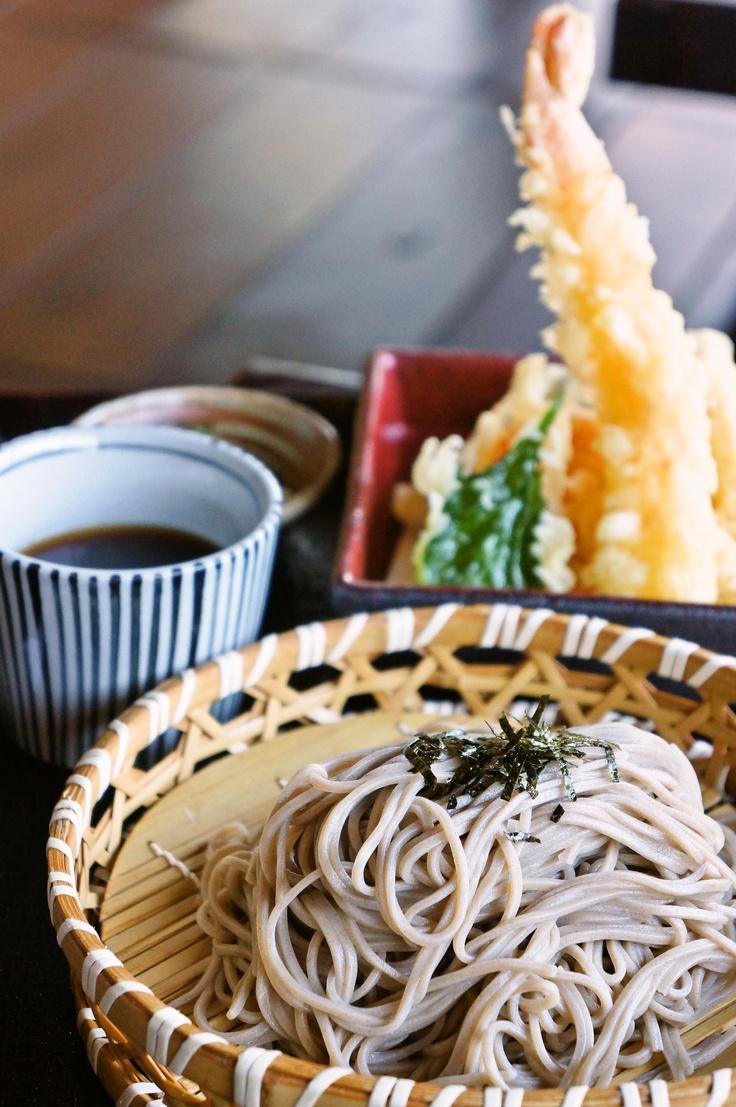 信州新蕎麦と大海老の天ざる  T