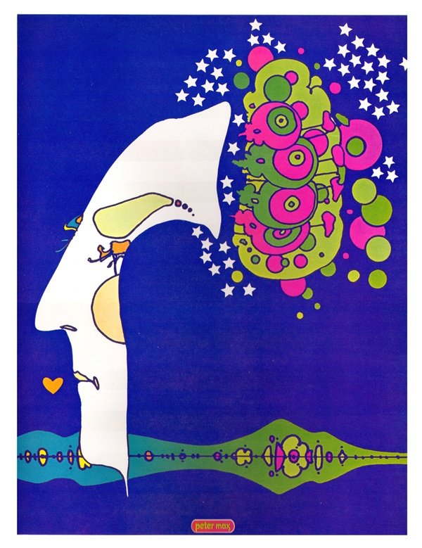 Midnight Dream, peter max, art, illustration, color,