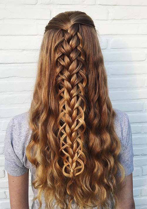Braided Hairstyles For Long Hair Simple 309 Best Hair Goals Images On Pinterest  Cute Hairstyles Hairstyle
