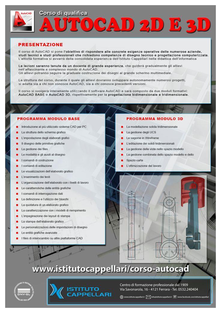 #volantino #depliant #flyer progettazione  #grafica per #corso #autocad #Ferrara