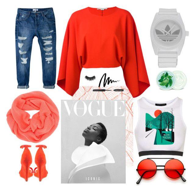 """""""iconic"""" by miss-li-by-juliana-lima on Polyvore featuring Topshop, MANGO, adidas, ALDO, STELLA McCARTNEY, LA77, Fuji, Bobbi Brown Cosmetics and Illamasqua"""