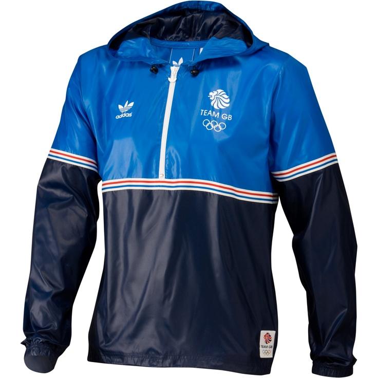 Men's Team GB Windbreaker, Bluebird / Dark Indigo