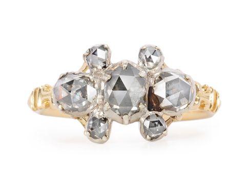 Early 18th C. Diamond Set Ring. Date: Circa 1700 – 1740. Origin: Possibly English. - The Three Graces