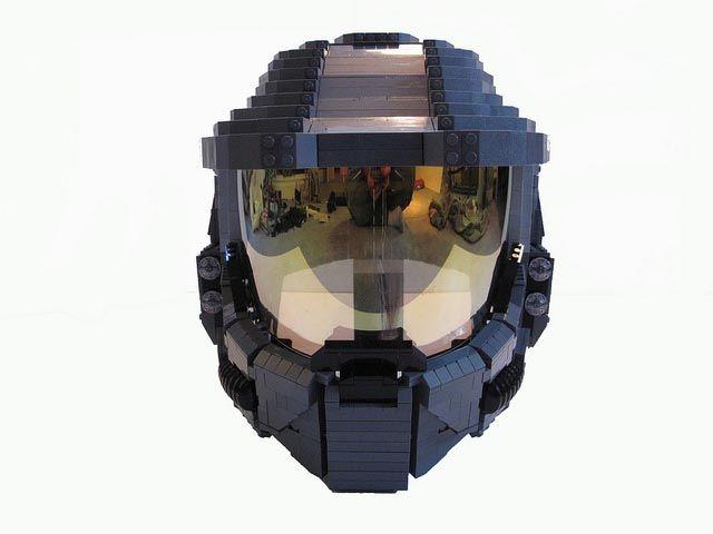 Life-Size Wearable LEGO Halo Master Chief Helmet