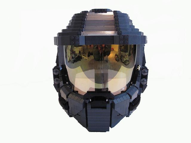Life-Size Wearable LEGO Halo Master Chief Helmet